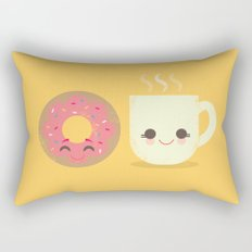 Coffee and Donut Buds Rectangular Pillow