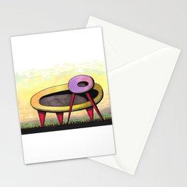 Retro Spaceship Architectural Design 55 Stationery Cards