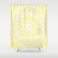 lemon Shower Curtains featuring Lemon by SimplyChic