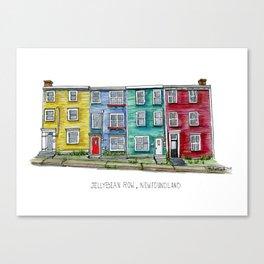 Jellybean Row Newfoundland Canvas Print