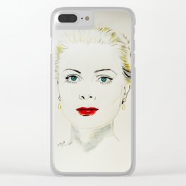 Grace Kelly Clear iPhone Case