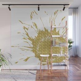 Golden Flower Wall Mural