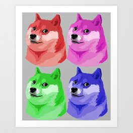 Doge in every color Art Print