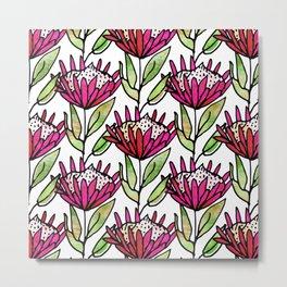 Modern Floral Protea Pink #homedecor Metal Print