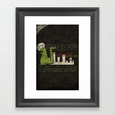 Dinosaur in the City Framed Art Print