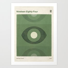 George Orwell Nineteen Eighty-Four - Minimalist literary design, bookish gift Art Print