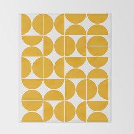 Mid Century Modern Geometric 04 Yellow Decke