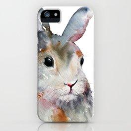 Gray Rabbit iPhone Case