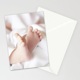 Cute feet of a newborn baby Stationery Cards