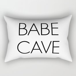 Babe Cave Rectangular Pillow