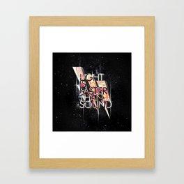 Light Is Faster Framed Art Print