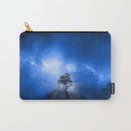 blue night landscape Carry-All Pouch