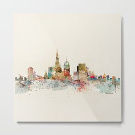 barcelona city skyline Metal Print