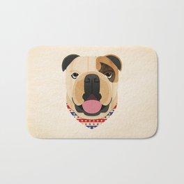 American Bulldog Dog Portrait Bath Mat