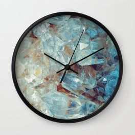 Heavenly Blue Quartz Crystal Wall Clock