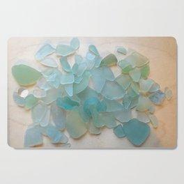 Ocean Hue Sea Glass Cutting Board