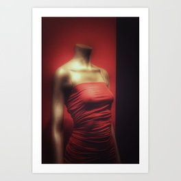 Dressed in Red Art Print