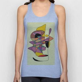 abstract face Unisex Tank Top