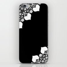 Retro . White lace on a black background . iPhone & iPod Skin