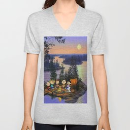 Snoopy and Friend Unisex V-Neck
