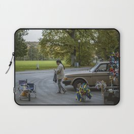 Lady With Portable Street Shop Laptop Sleeve