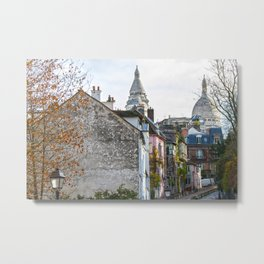 French street in Montmartre, Paris Metal Print