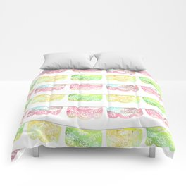 Pastel Watercolor Papel Picado Comforters