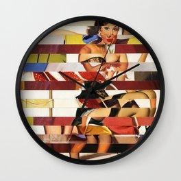 Glitch Pin-Up Redux: Emma Wall Clock