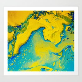 Return to paradise, acrylic on canvas Art Print