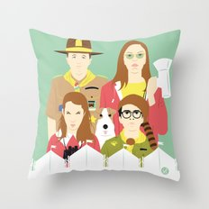 Time For Love And Adventure (Faces & Movies) Throw Pillow