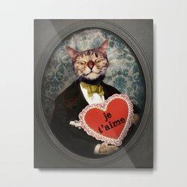 Je t'aime - Kitty Love Metal Print