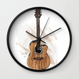 Acoustic Guitar Wall Clock