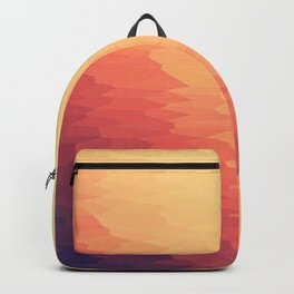 Orange Peach Ombre Backpack