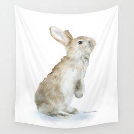 Bunny Rabbit Watercolor Wall Tapestry