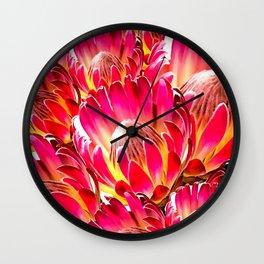 Pink Flower 9 Wall Clock