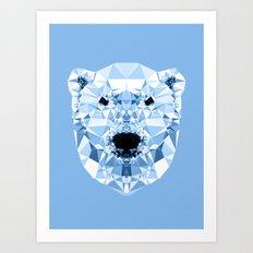 Diamond Polar Bear Art Print