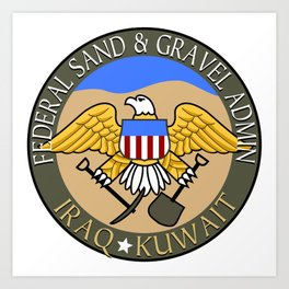 Federal Sand and Gravel Admin Art Print