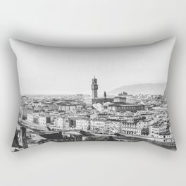 Black and white Florence - Italy Rectangular Pillow