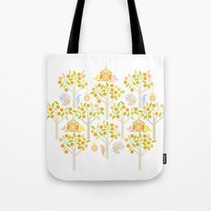 Birds And Oranges Tote Bag
