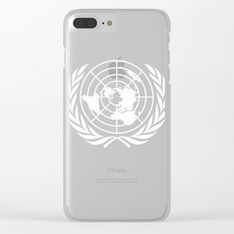 United Nations UN World Peace graphic Clear iPhone Case