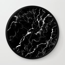 Faux Black Marble Texture With White Veins (NOTICE: Not Real Marble) Wall Clock
