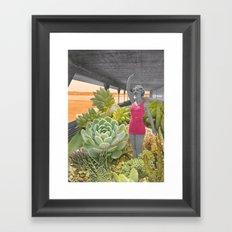 Plantes grasses Framed Art Print