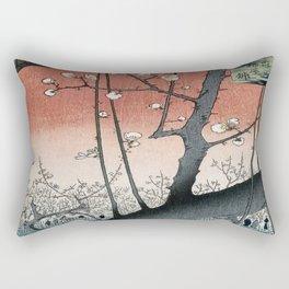botanical ukiyo-e painting nature garden spring japanese plum flower Rectangular Pillow