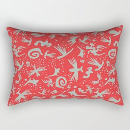 Moonchild Tribal	Cayenne Red Rectangular Pillow