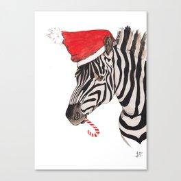 Christmas Zebra Canvas Print