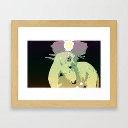 Popart horse Framed Art Print