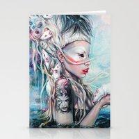 rat Stationery Cards featuring Yolandi The Rat Mistress  by Tanya Shatseva