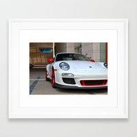 porsche Framed Art Prints featuring Porsche by Nick Nieu