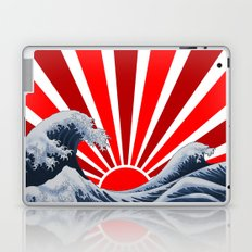 Great Wave of the Rising Sun Laptop & iPad Skin