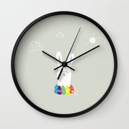 The Happy Easter Wall Clock